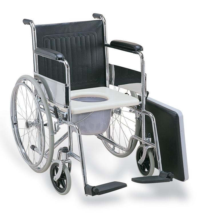 Αμαξίδιο Πτυσσόμενο Απλό Μεγάλοι Τροχοί 60 cm WC | Ιατρικά Ορθοπεδικά Είδη