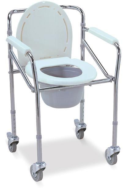 Τροχήλατο Βοήθημα WC με Δοχείο Πτυσσόμενο | Ιατρικά Ορθοπεδικά Είδη